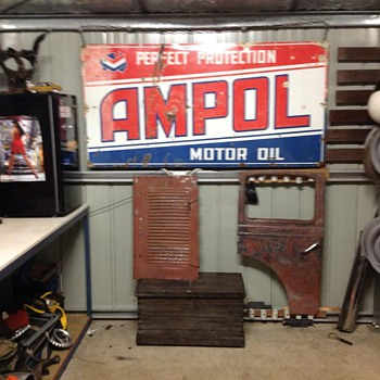 my newly aquired ampol sign