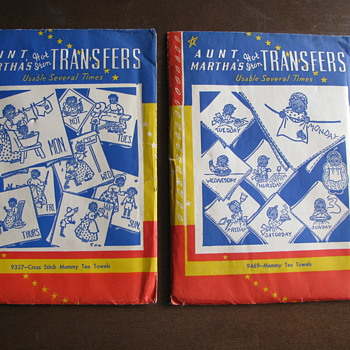 Aunt Martha's Iron on Mammy Transfers - Rugs and Textiles