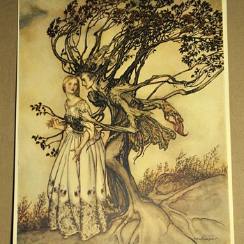 Little Brother and Little Sister - The Brothers Grimm - Illustrated by Arthur Rackham - 1917 - Books