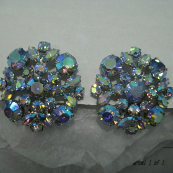Sherman Clip-ons and Unknown Star shaped Earrings - Costume Jewelry