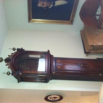 Mahogany and inlay tall class clock c.1830 - Clocks