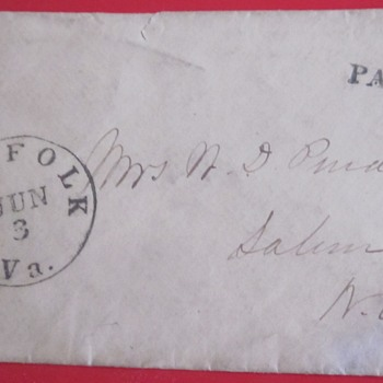 1861 Postal Envelope used by General W.D. Pender of North Carolina. - Military and Wartime