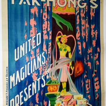 "Original Fak Hong ""Elle"" Stone Lithograph Poster"