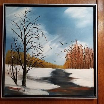 Lovely painting, little info. - Fine Art