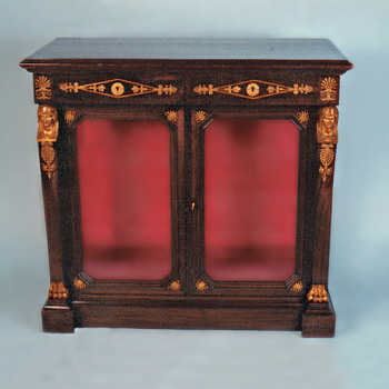 An Antique French Empire Mahogany Vitrine, With Fine Egyptian Gilt Bronze Mounts - Furniture