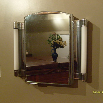 Old Barber Shop Mirror... - Furniture