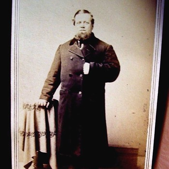 "CIVIL WAR ERA,ODD FIGURED MAN, SHORT LEGS & LONG COAT ""STUBBY"""