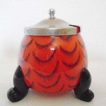 Czech Art Deco Jam Pot - Art Deco