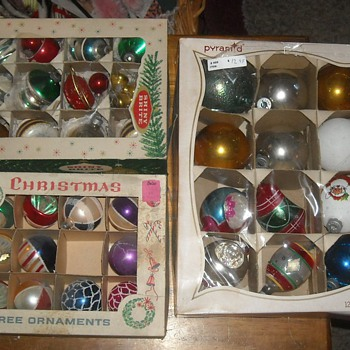 More Vintage Christmas Tree Glass Ornaments - Christmas