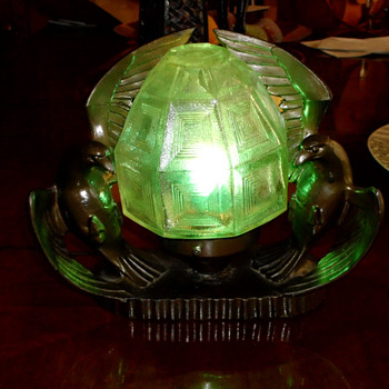 1925-35 Art Deco Sea Gull Radio Lamp - Art Deco