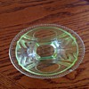 Green Depresion Glass Candy Dish