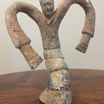 Han Dynasty Dancing Lady Pottery - Asian