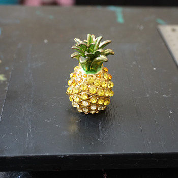 Pineapple Trinket Box - Costume Jewelry