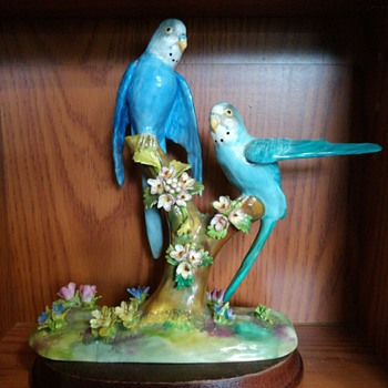 Crown Staffordshire J.T. Jones Parakeet Budgie figurine  - Figurines