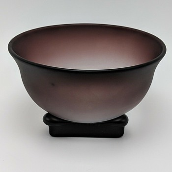 Glass tea bowl by Yoshihiko Takahashi - Art Glass