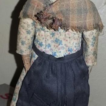 nut head folk art doll