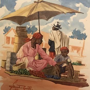 Vintage watercolors ID - Fine Art
