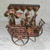 Bronze Flower Cart
