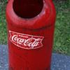 Coca-cola vintage garbage can