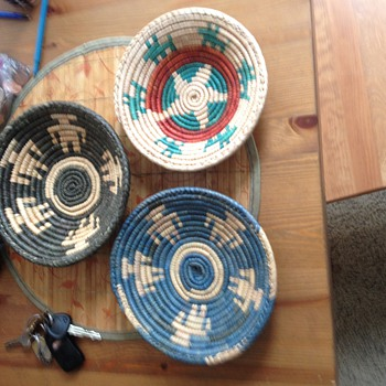 Colorful Native American Indian Baskets - Native American