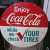 Coca Cola Tire Check Stand