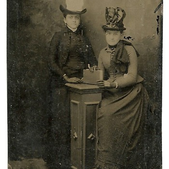 Two tin types found at my Grandmothers.