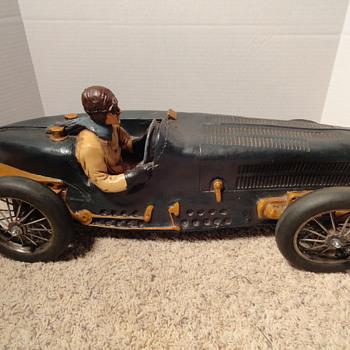 Large Bugatti Race Car Model