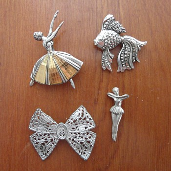 My grandma's brooches 1 - Costume Jewelry