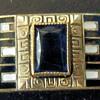 Art Deco Bracelet, Brass, Glass & Enamel, Part I