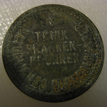 Mineral water bottle deposit coin (Franken-Brunnen) - Advertising