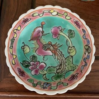 Two Small Plates - possibly Peranakan - Asian