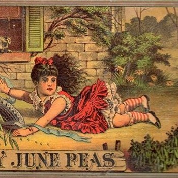 Early June Peas Lithograph - Advertising