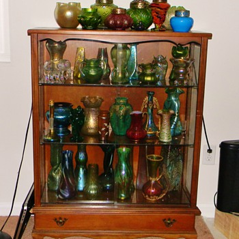 Another Cabinet W/ Loetz & Friends Vases...following Macs Post! - Art Nouveau