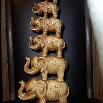 Stacked Elephants  - Asian