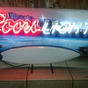 Very Rare Neon Coors Light Surfboard Wave Sign