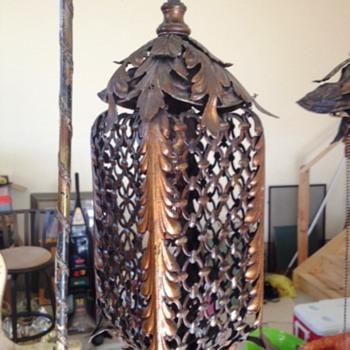 copper/iron lamp  - Lamps