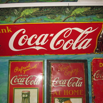 Upgraded 1950 Coca Cola Sign