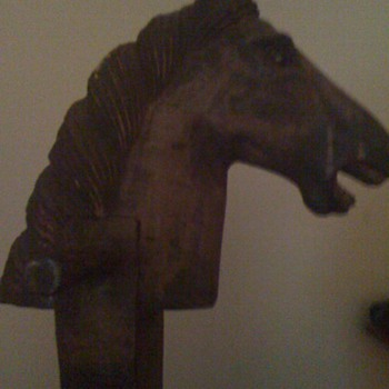 This is a very old Wooden Stickhorse left to me by my mother - Folk Art