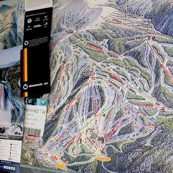 Skiing Trail Maps and Passes - Posters and Prints