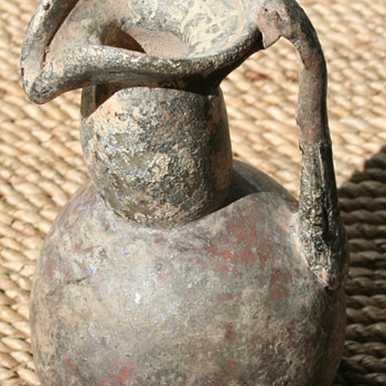2nd Century Roman Glass Wine Jug from Temple of Jupiter, Lebanon - Glassware