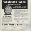 Westclox Week Advertisement from October 1935