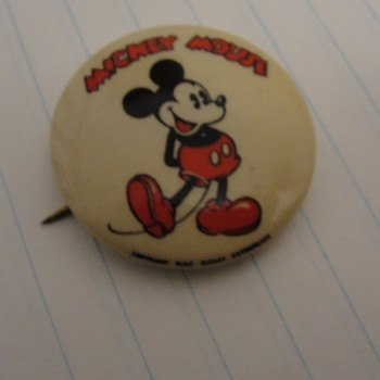 Mickey Mouse Button Pinback