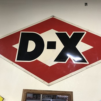 Two old D-X gasoline signs 6 ft and a 4ft  - Petroliana