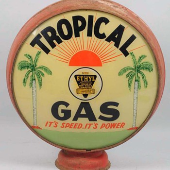 Tropical Gas Globe - Petroliana