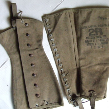 World War II military issue boot leggings - Military and Wartime