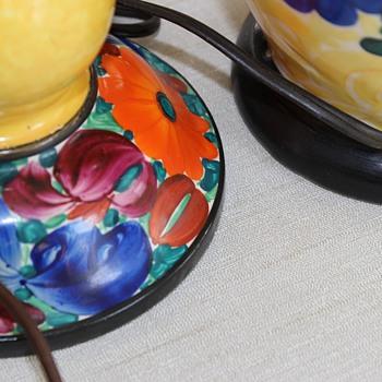 Czech Vase into lamp - Pottery