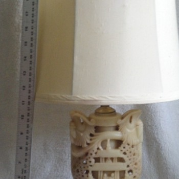 Jade carved lamp - Lamps