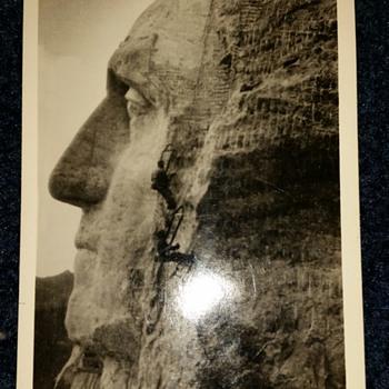 1937 Gutzon Borglum Signed Postcard? - Postcards