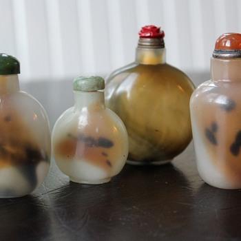 Glass Imitating Shadow Agate Bottles - Asian