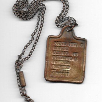1914 foriegn dog tag? - Military and Wartime